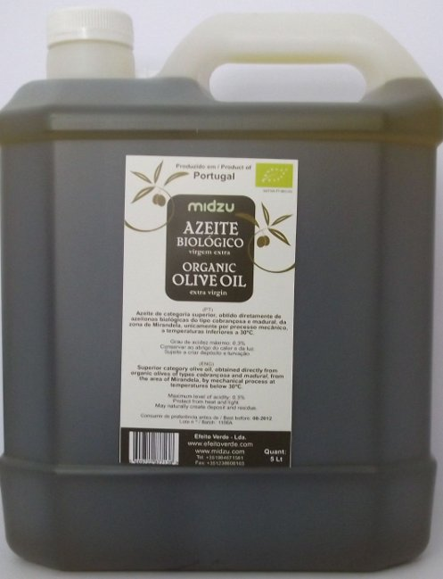 Organic Olive Oil extra virgin 5 Lt