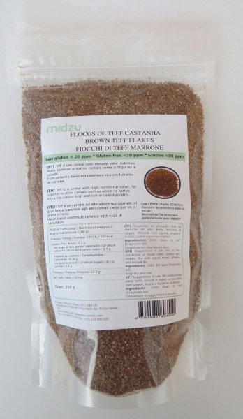 Brown Teff Flakes Midzu 250 g
