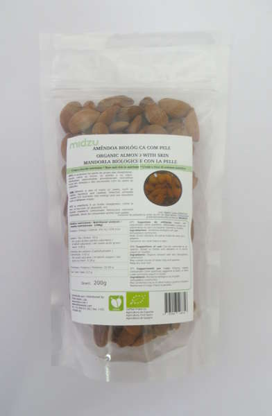 Organic almonds with skin Midzu 200 g