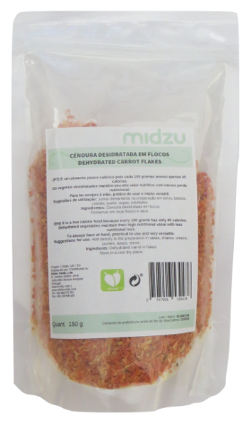 Dehydrated carrot flakes Midzu 150 g
