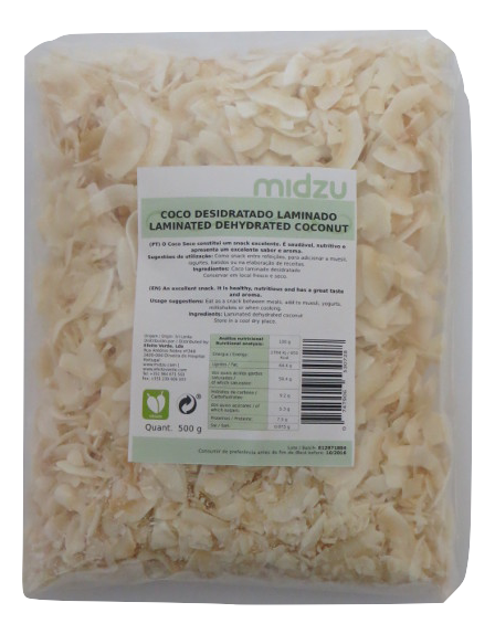 Laminated dehydrated coconut Midzu 500 g